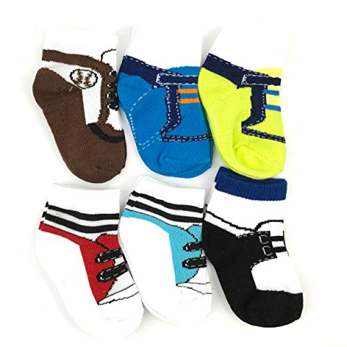 6 Pairs 0-10 month Baby Newborn Ankle Sock Toddler Crew Walkers Bootie Infant Socks (Mixed style 2) by Fly-Love (Image #3)