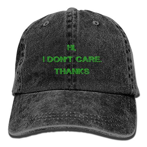 Hi Sport Cap Care DEFFWB Hat Don't Thanks I Women Cowgirl Hats Cowboy Men Skull Denim for 58qPqRp