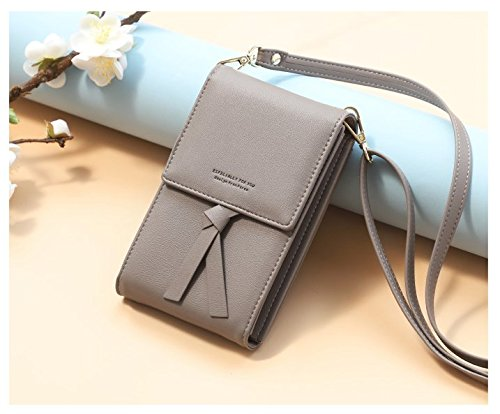 With Storage Under 5 Women 5 Samsung Girls For Smartphone 811 grey Card PU iPhone Wallet Bag Pouch Leather Holder Credit Cell Crossbody Inch Phone Purse zfPFwx4q