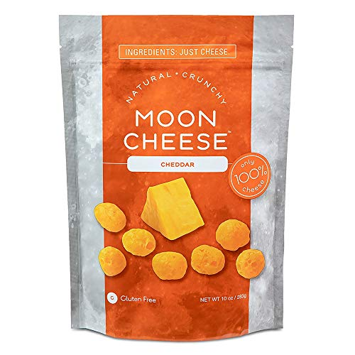 Moon Cheese Cheddar, 10 oz, 100% Cheese and Gluten Free ()