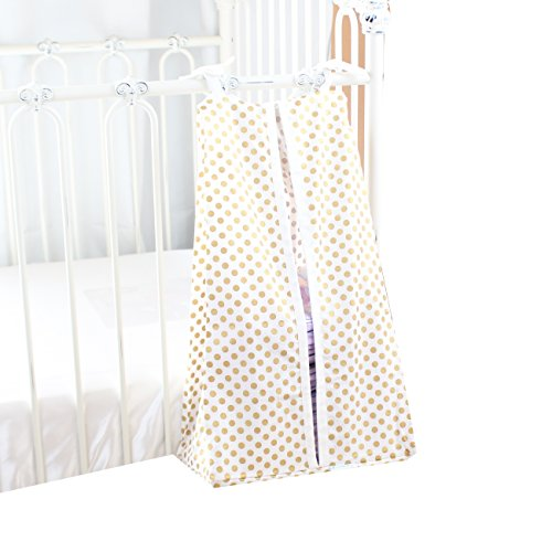 Metallic Gold Dots Diaper Stacker (Baby Bedding Diaper Stacker)