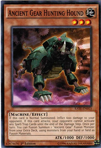 Ancient Gear Hunting Hound - RATE-EN013 - Common - 1st Edition - Raging Tempest