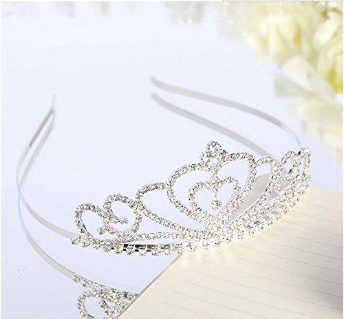 Lovelyshop Rhinestone Crystal Tiara-Wedding Bridal Prom Birthday Pegeant Prinecess Crown (Heart) by Lovely Shop (Image #5)