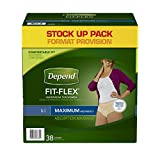 Depend Underwear Max Absorbency Large for Women, 38 Count