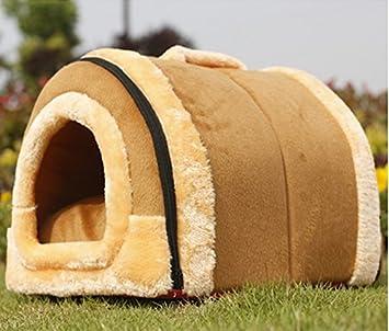 NYDZDM Casa de Mascotas Cachorros Nido extraíble y Lavable Cuatro Estaciones Generales Teddy casa de Perro Interior pequeño Perro yurt Arena para Gatos ...