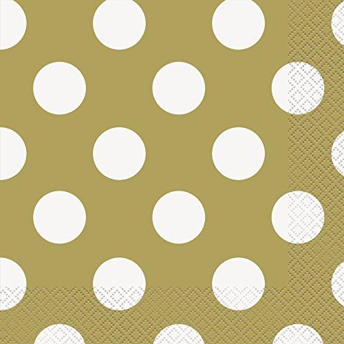 Gold Polka Paper Napkins 16ct product image