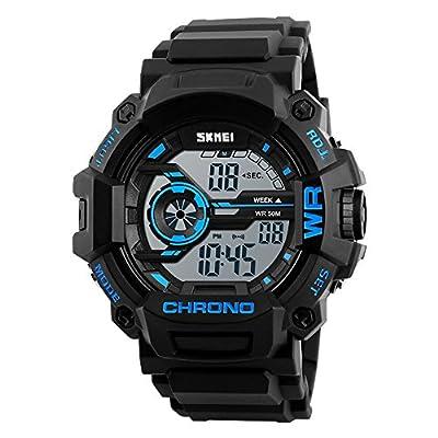 Digital Boys Watch Camouflage?Blue Sports Military Style Alarm LED Backlight Stopwatch Waterproof¡