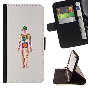 Momo Phone Case / Flip Funda de Cuero Case Cover - Biología Esqueleto humano - Samsung Galaxy Note 5 5th N9200