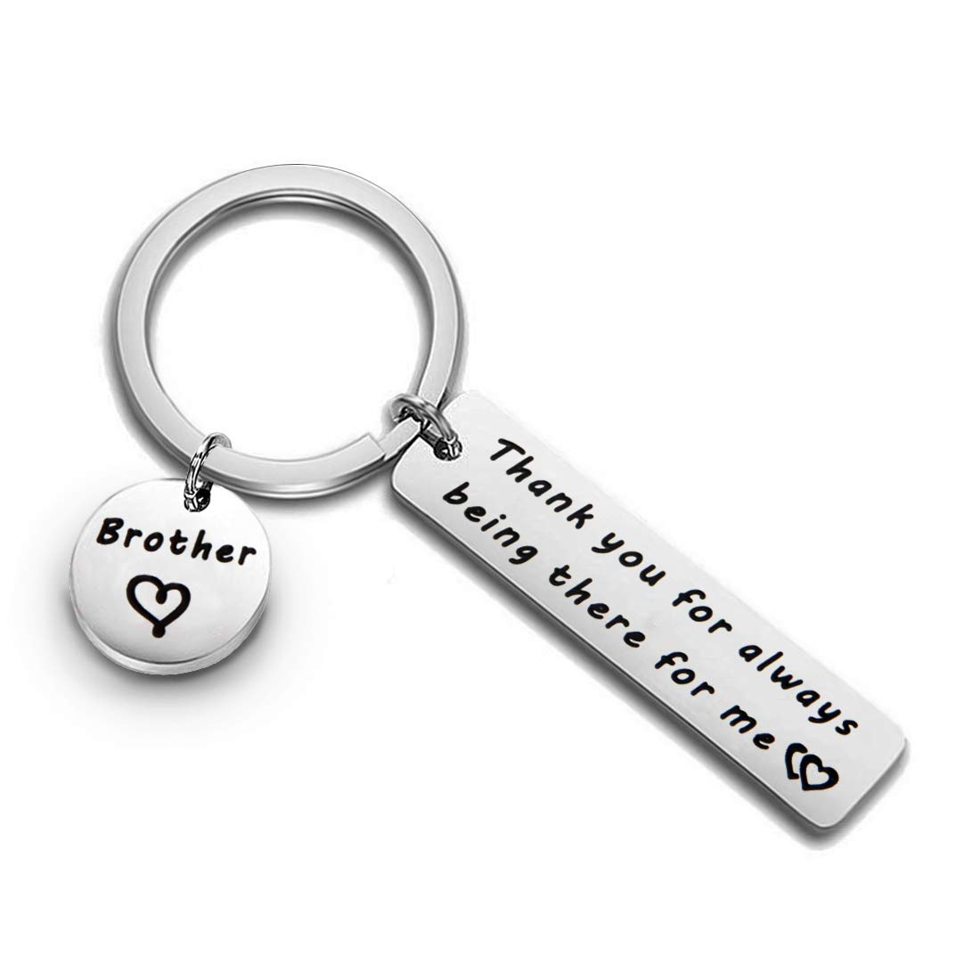Brother Keychain Thank You for Always Being There for Me Gift for Brother Family Jewelry
