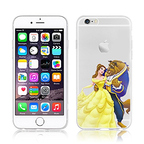 RONNEY'S Disney PRINCESSES Transparent TPU Soft case for Apple Iphone 7 PLUS