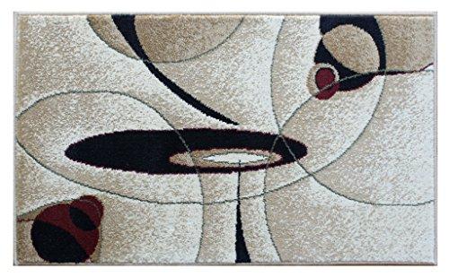 Modern Rug Door Mat 24 In. X 40 In. Beige Bellagio 457