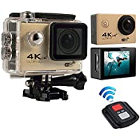 niceEshop(TM) 4K HD Wifi Action Camera 2.0 Inch 170 Degree Wide Angle Lens Action Camera WIFI 4k Waterproof Sports Action Camera, Gold