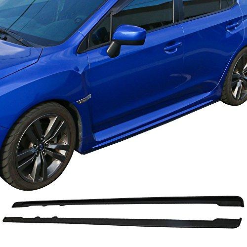 Side Skirts Fits 2015-2018 Subaru WRX STI | Ikon Style Black ABS Sideskirt Rocker Moulding Air Dam Chin Diffuser Bumper Lip Splitter by IKON MOTORSPORTS| 2016 2017