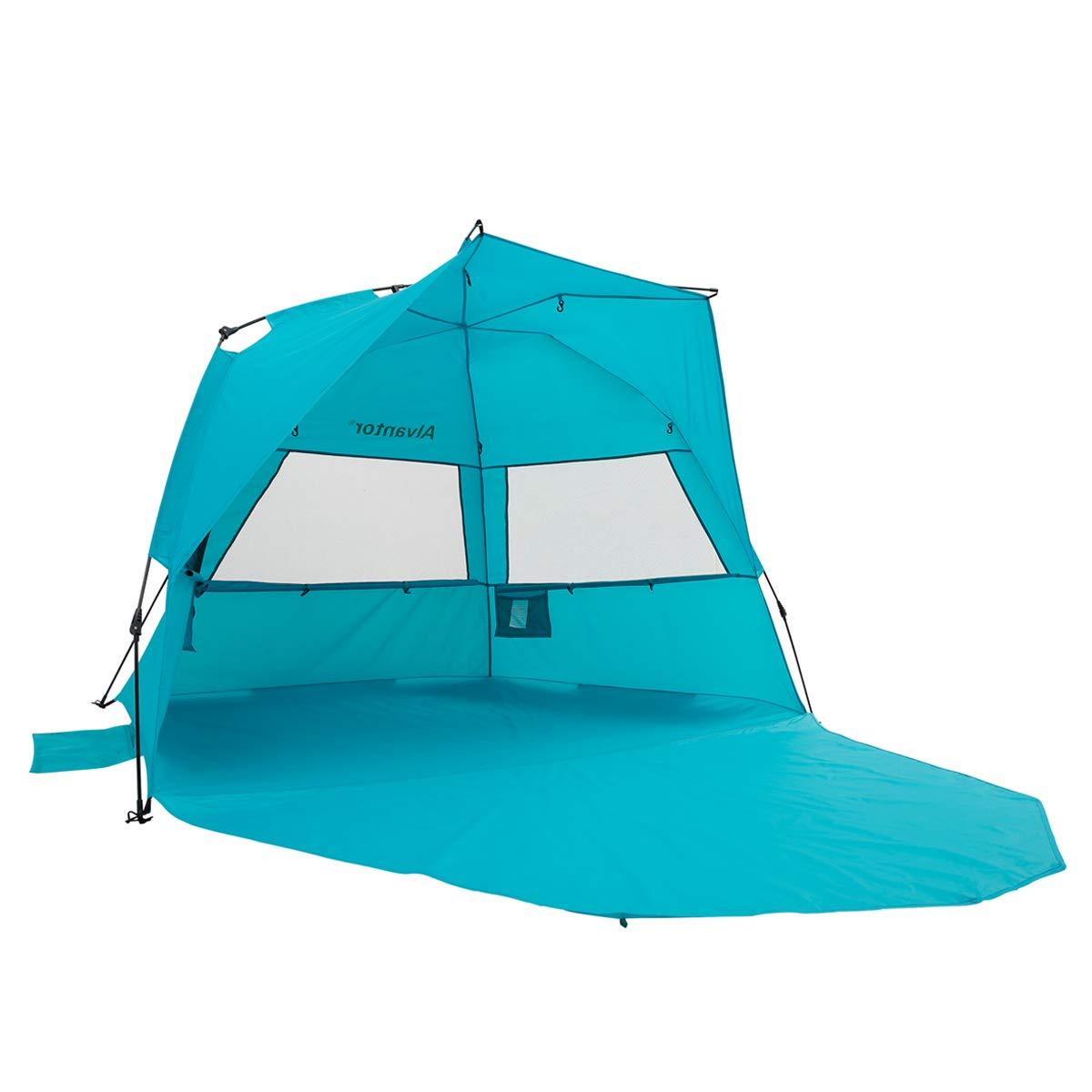 Alvantor Extra Large Beach Tent Super Bluecoast Beach Umbrella Outdoor Sun Shelter Cabana Automatic Pop Up UPF 50+ Sun Shade Portable Camping Fishing Hiking Canopy Easy Setup Windproof Patent Pending by Alvantor