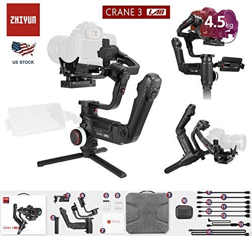 Zhiyun Crane Plus (Crane v2 Upgrade Ver) 3-Axis Handheld Gimbal Stabilizer Timelapses Motion Memory Object Tracking POV Mode Nightlapse for Sony Panasonic Canon Nikon Fujifilm DSLR