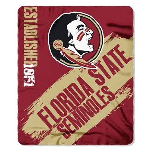 The Northwest Company 1COL/03102/0015/AMZ NCAA Florida State Seminoles Painted Printed Fleece Throw, 50