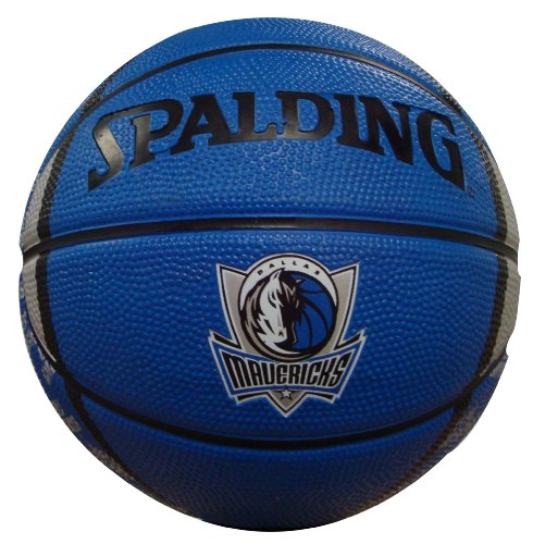 NBA Dallas Mavericks Mini Basketball, 7-Inches (Spalding Dallas Mavericks Rubber)