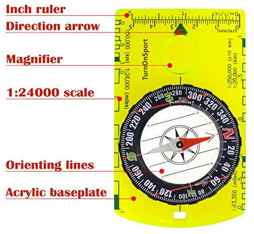 Magnifying Compass  Scout Hiking Camping Boating Map Reading Orienteerin  RPA
