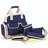 New Arrival Premium Quality Diaper Tote Bag Navy Blue Color with Diaper changing Pad and Stroller Straps can be used as a Mummy Travel Backpack