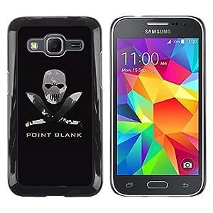 TECHCASE**Cubierta de la caja de protección la piel dura para el ** Samsung Galaxy Core Prime SM-G360 ** Point Blank Machete Face