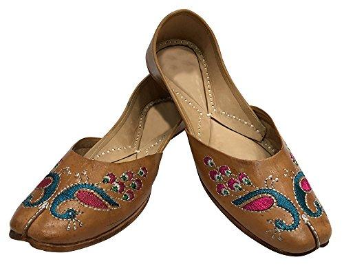 Trinn N Stil Lær Punjabi Jutti Designer Jutti Mojari Casual Sko Flat Jooti