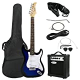 "Image of ZENY 39"" Full Size Electric Guitar with Amp, Case and Accessories Pack Beginner Starter Package, Blue"