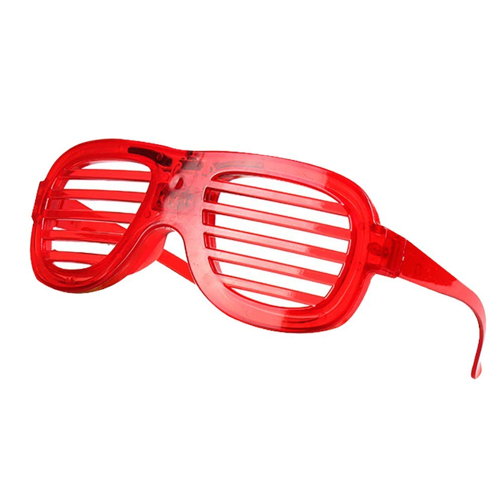 Yevison Light up Flashing Shutter Glasses Shades Eyewear Toy Party Concert Props Red Durable and Practical