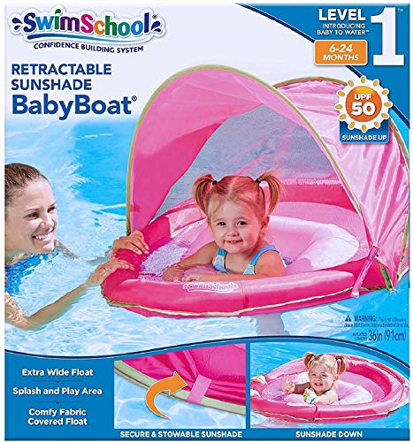 Aqua Leisure Sunshade Fabric Covered Egg Shape Baby Boat