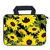 AMARY 11.6' 12' 12.1' 12.5 inch Laptop Handle Bag Neoprene Notebook Carrying Pouch Chromebook Sleeve Ultrabook Case Tablet Cover Fit Apple MacBook Air HP DELL Lenovo Asus Samsung (Sunflower)