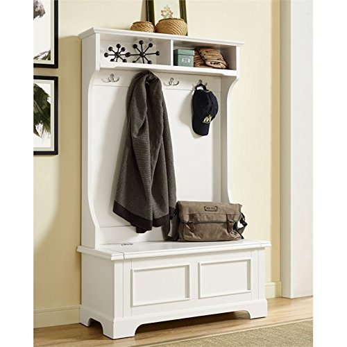 Crosley Furniture Campbell Hall Tree - White (Hall Small Trees)