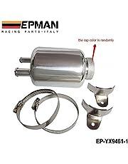 epman plateado JDM Racing de aluminio dirección asistida tanque de depósito de líquido abrazaderas ep-yx9461–1