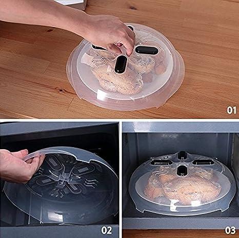Tapa para el microondas Anti-Splash cubierta Calefacción horno ...