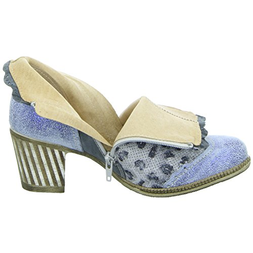 Charme Routard Italy 0085-17E_02 85/E17 COMB2 Damen Schlupf/Reißverschlussstiefelette Kaltfutter Blau (Blau)