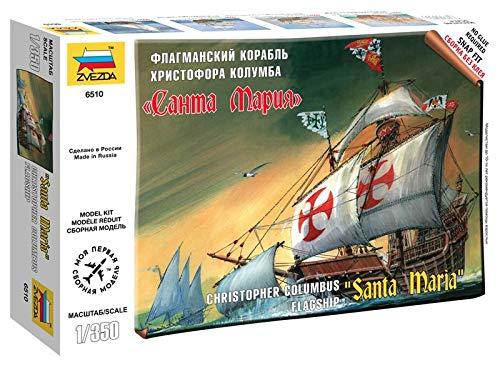 (Zvezda Models Columbus Ship Santa Maria Snap Fit Model Kit)