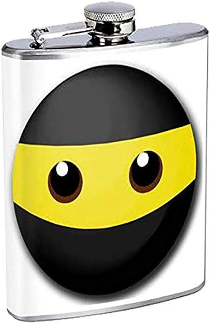 Frasco Emoji Ninja Face 21 Acero inoxidable Cadera 7 Oz Plata ...