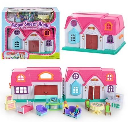 Amazon Com Keenway Home Sweet Home Doll House Play Set Toys Games