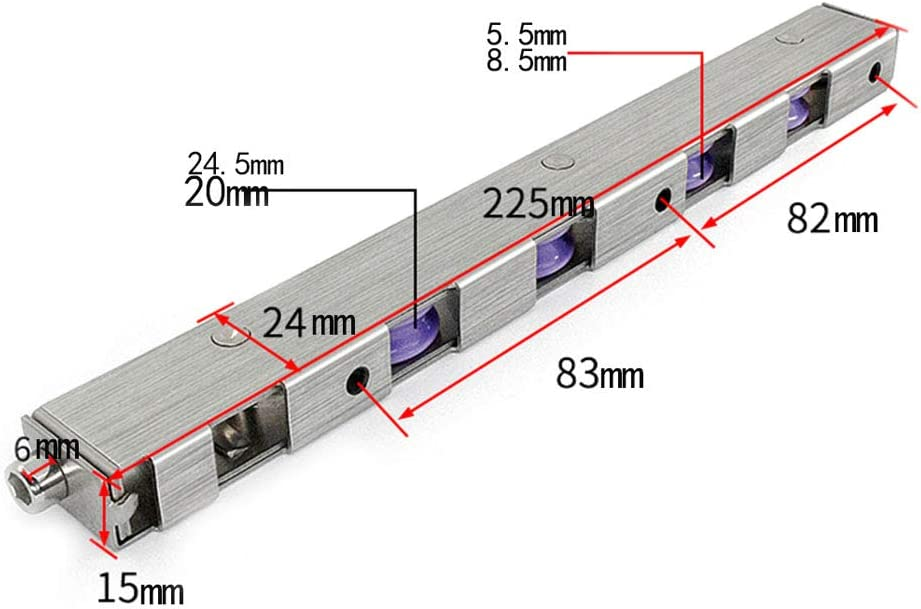 Rueda Larga de Acero Inoxidable para Puertas y Ventanas de aleación de Aluminio, 15 * 24 * 225MM, Adecuada para Puertas y Ventanas de aleación de Aluminio, Puertas correderas: Amazon.es: Hogar