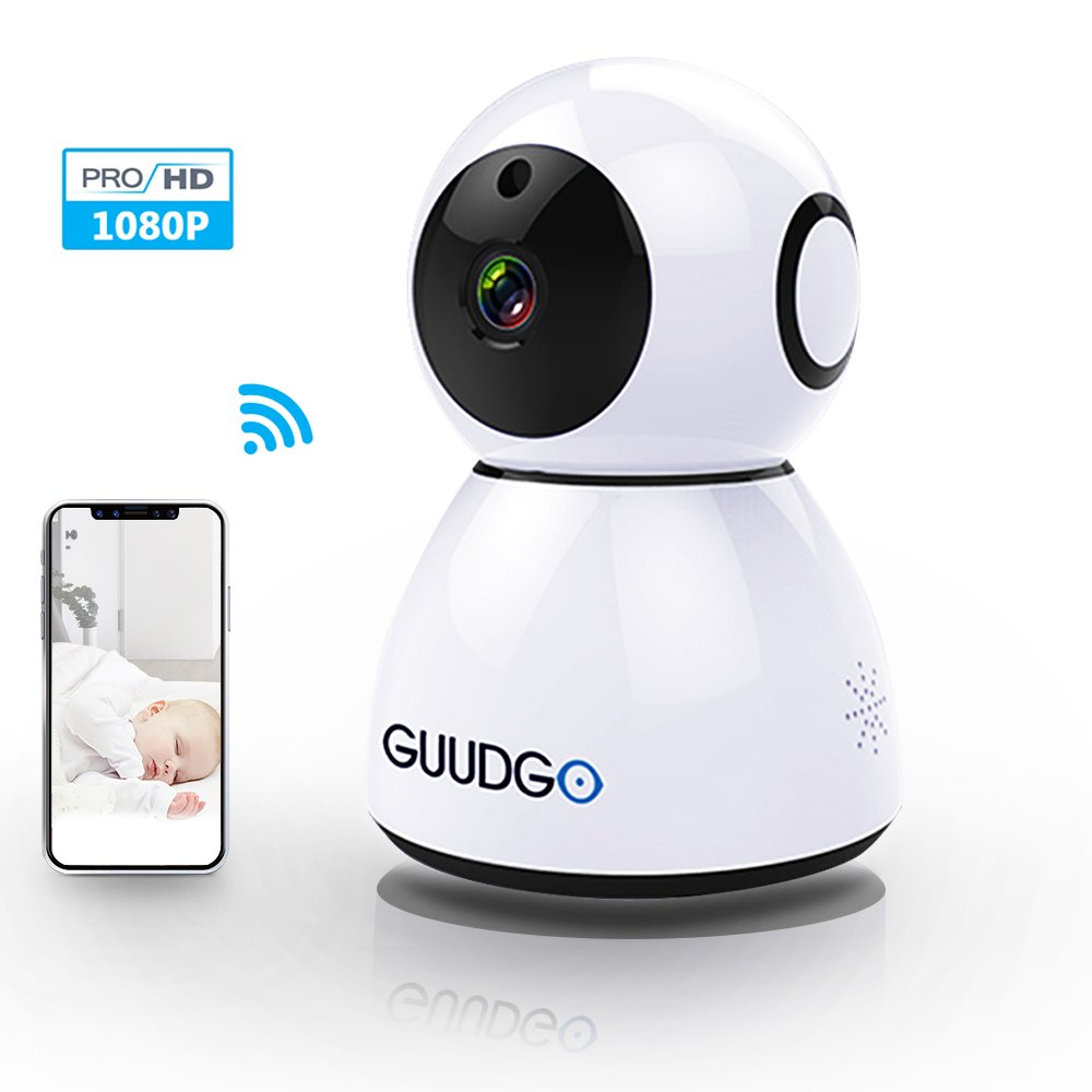 1080P Dome Camera, GUUDGO Wireless WIFI IP Camera, Security Surveillance Cloud Camera, Indoor/Outdoor Cam for Home, Baby, Pet Monitoring