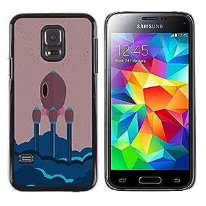 LECELL--Funda protectora / Cubierta / Piel For Samsung Galaxy S5 Mini, SM-G800 -- NAVE ESPACIAL MINIMALISTA --