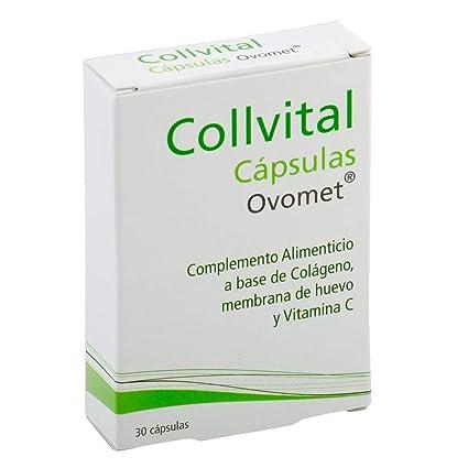 Colágeno hidrolizado + Acido hialurónico + Vitamina C + Zinc y Magnesio + OVOMET cápsulas.