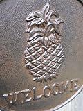 Iron Pineapple WELCOME Plaque Swivels on Bracket