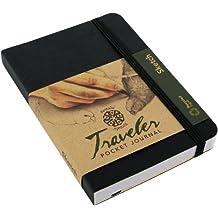 Pentalic Traveler Pocket Journal Sketch, 4-Inch by 6-Inch, Black
