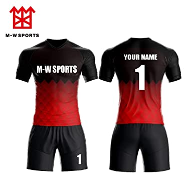 a286c1df41aba Full Sublimated Custom Soccer Jersey Personalized with Team Name Player Names  and Numbers (S)