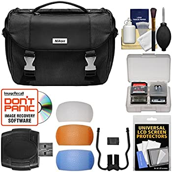 Nikon Deluxe Digital SLR Camera Case - Gadget Bag with Pop-up Filter Set + Kit for D610, D750, D810, D850, D7200, D7500, D5500, D5600, D3300, D3400