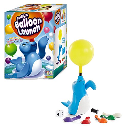 International Playthings Game Zone Buddy's Balloon Launch - Preschoolers Make Balloons Fly While Counting,  Cranking And Cracking Up!