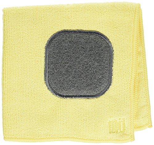 MUkitchen - Trapo de cocina de microfibra con estropajo integrado, Chifón, 12' x 12' Dishcloth, 1