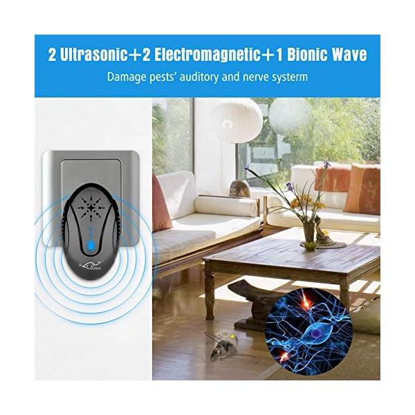 Aunus 2020 Version Repellente Ultrasuoni per Topi Professionale, 3 in 1 Scacciatopi Ultrasuoni,Repellente Anti Zanzare… 3 spesavip
