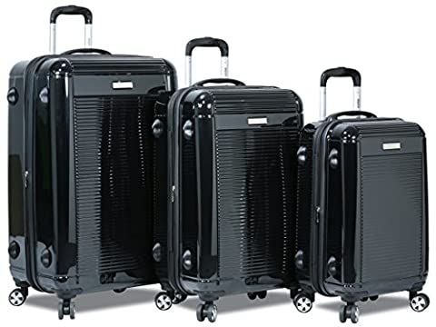 Dejuno 3 Pcs Set Polycarbonate Expandable Luggage Spinner Suitcase with TSA Lock, 28