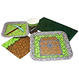 Blue Orchards Mining Fun Deluxe Party Packs (70 Pieces for 16 Guests!), Minecraft Inspired Birthday Party Supplies, Pixel Party