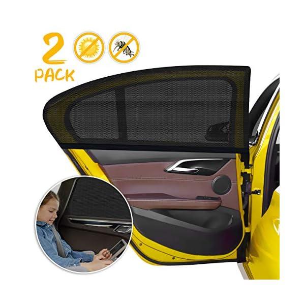 WEARXI Tendine Parasole Auto Bambini - 2 Pezzi Parasole Auto Bambini, Parasole Finestrino Auto Pellicola Oscuramento… 1 spesavip